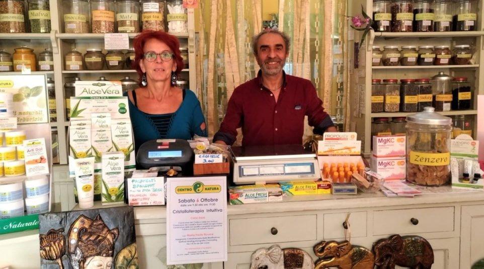 Noi di Erbanatura - Erboristeria Centro Natura - I titolari Fabrizia e Alfonso